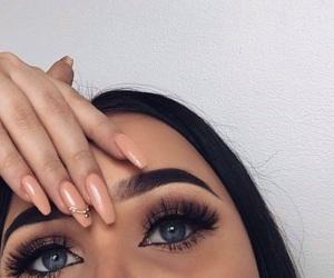 nails, beauty, and eyes image