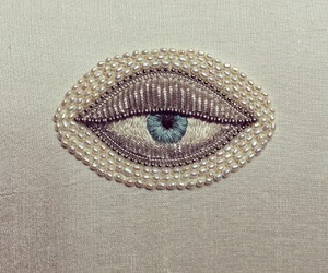 eye, embroidery, and eyes image