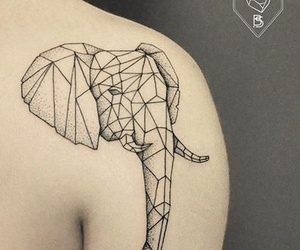Dream, elephant, and geometric image
