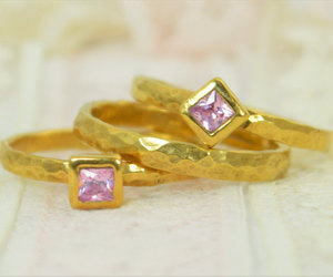 etsy, october birthstone, and wedding ring set image