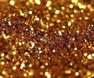 glitter, aesthetic, and gold image