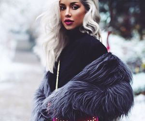 blonde, fashion, and fur image