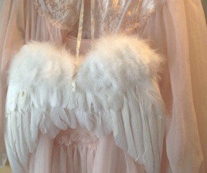 angel, pink, and wings image