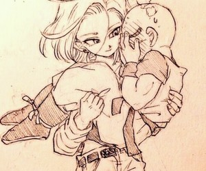 dragon ball, dragon ball z, and anime couple image