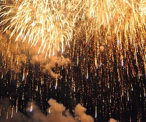 fireworks, gold, and pale image