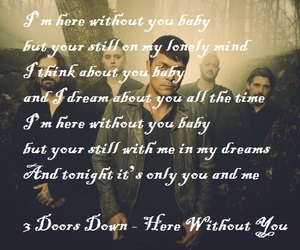 here without you, song, and 3 doors down image