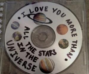 cd, stars, and grunge image