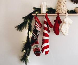 christmas, winter, and stockings image