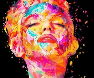 art, Marilyn Monroe, and colors image