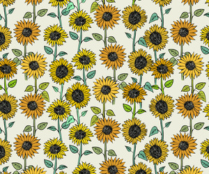 sunflower, wallpaper, and pattern image