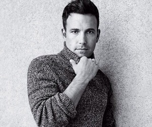 Ben Affleck and black and white image