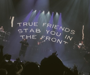 quotes, friends, and concert image