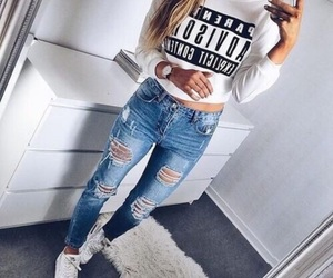 beautiful, fashion, and jeans image