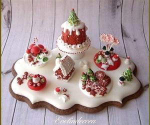 cake, christmas, and decoration image
