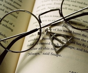 book, harry potter, and deathly hallows image