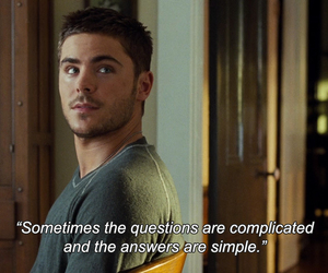 quotes, zac efron, and answer image