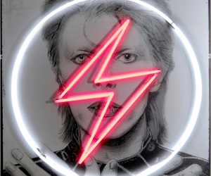 art, david bowie, and neon image