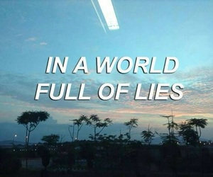 blue, lies, and quote image