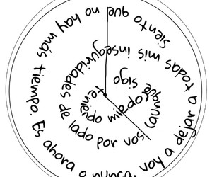 frase, miedo, and reloj image