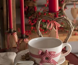 candles, red, and christmas image