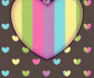 background, colorful, and hearts image