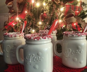 candy, candy cane, and drink image