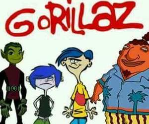 cartoon network, gorillaz, and funny image