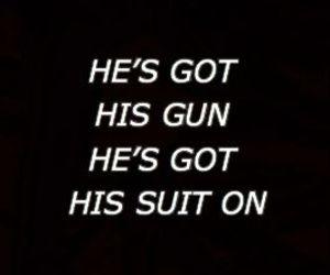 gun, Lyrics, and suit image