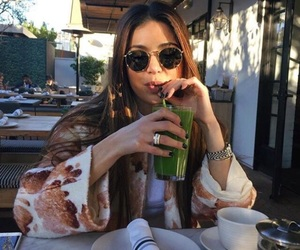 girl, indie, and drink image