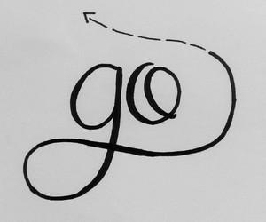 calligraphy, go, and handmade image