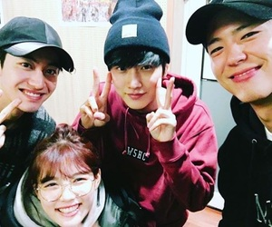 jinyoung, park bo gum, and kwak dong yeon image