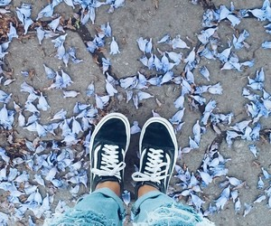 flowers, vans, and jean boyfriend image