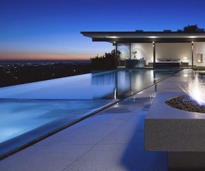 lights, luxury, and mansion image