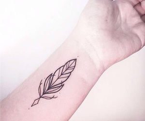 feather, simple, and cute image