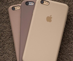 iphone, beige, and apple image