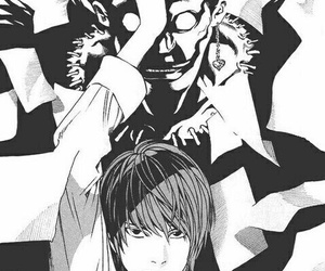 death note, ryuk, and kira image