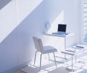 computer, light, and white image