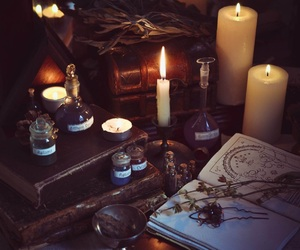 witch, magic, and candle image