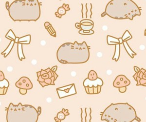 pusheen, cat, and wallpaper image