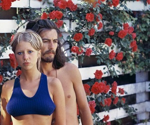 george harrison, pattie boyd, and roses image