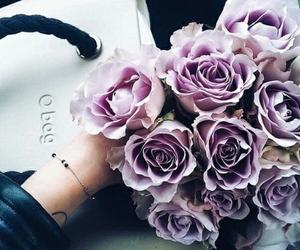 fashion, flower, and purple image