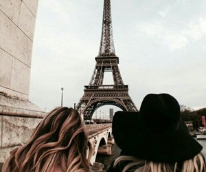 eiffel tower, france, and tourist image