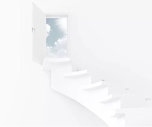 sky, stairs, and white image