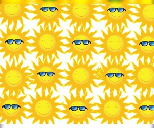 background, summer, and sun image