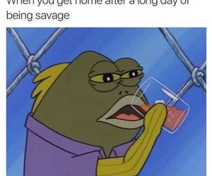 funny, savage, and spongebob image