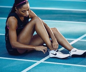 track, allyson felix, and track and field image