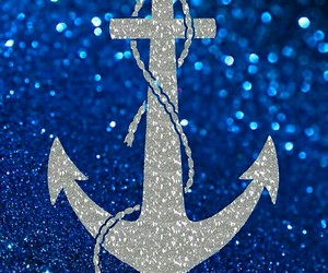 blue, anchor, and glitter image
