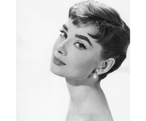 audrey, white, and black image