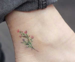 flowers, inspo, and tattoo image