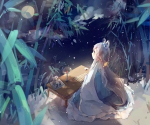 anime, night, and vocaloid image